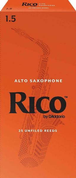 Rico 1.5 Strength Reeds for Alto Sax (Pack of 25) - RJA2515